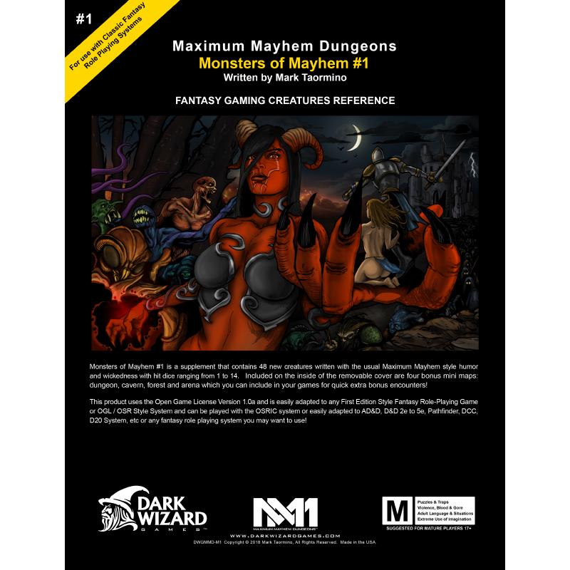 Monsters Of Mayhem 1 Softcover Book Pdf Dark Wizard Games